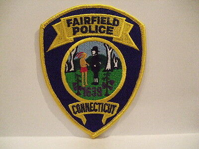 police patch  FAIRFIELD POLICE CONNECTICUT