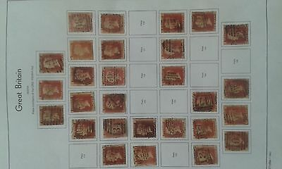 Gb Queen Victoria 1D Red Plates 110-149