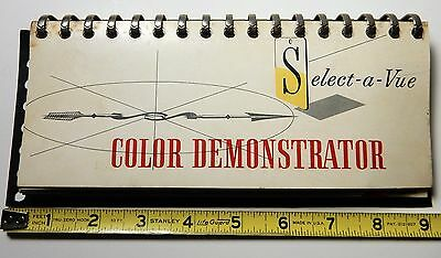 SCARCE 1950's FORD SELECT-A-VIEW COLOR DEMONSTRATOR CATALOG BOOKLET SUNLINER