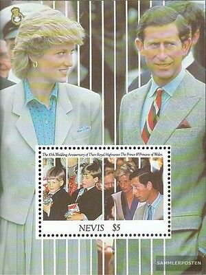 Nevis Block35 (complete issue) unmounted mint / never hinged 1991 Prince Charles