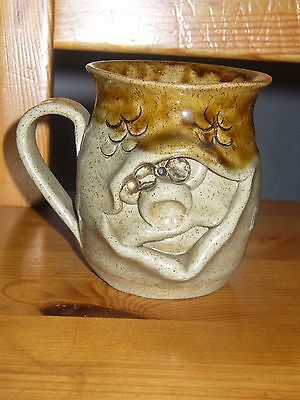 Pretty ugly pottery mug face welsh collectable unused