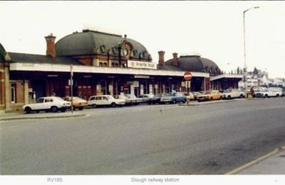 Slough railway station  station  1982 view period vehicles