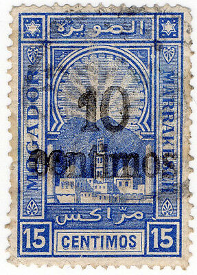 (I.B-CK) Spanish Morocco Local Post : Mogador - Marrakesch 10c on 15c OP