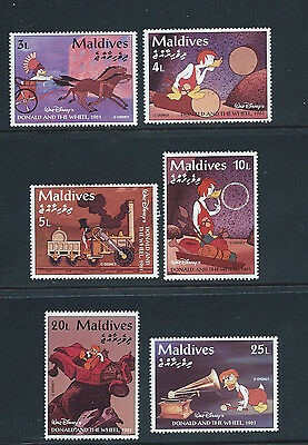 MALDIVES 1995 SG 2191/96 Disney - DONALD & THE WHEEL Short Set of 6 - MNH