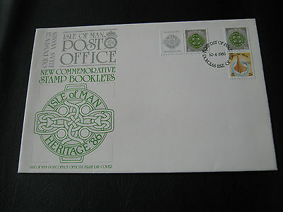 IOM FDC - 1986 - Stamp Booklets ( 2515)