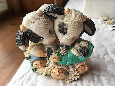 """1996 """"our Love Is Growing"""" Enesco Mary's Moo Moo Figures--Without Box"""