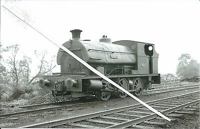 """INDUSTRIAL. loco """"allan"""" at oxfordshire ironstonce co pinhill farm in 1958"""