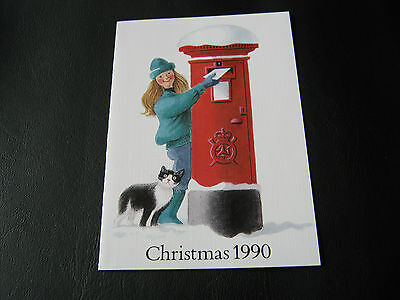IOM FDC - 1990 - Christmas card with 14p stamp ( 2515)