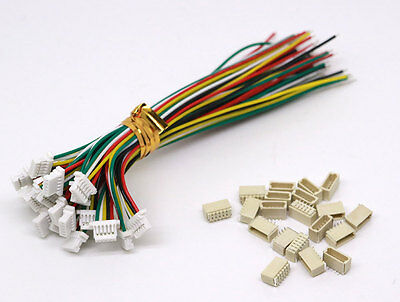 20 Sets JST SH 1.0MM 5-Pin Connector plug male female with Wire 100MM