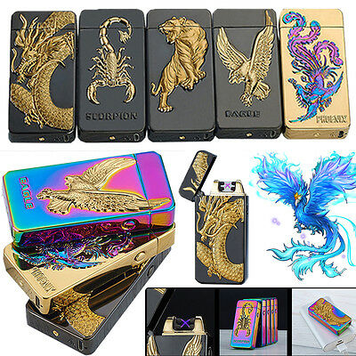 Dual Arc Electric USB Rechargeable Plasma Windproof Flameless Cigarette Lighter