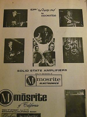 Mosrite Amplifiers, Glen Campbell, James Burton, Full Page Vintage Print Ad