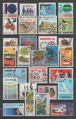 """R/gb17082, LOT OF 28 USED STAMP OF """"SINGAPORE"""", ALL DIFFERENT"""
