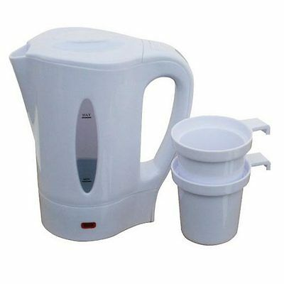 1L Dual Voltage Small Electric Travel Kettle Electric Small Caravan Compact Jug