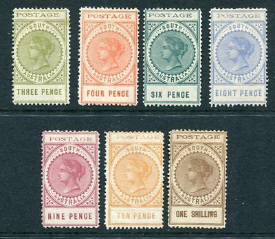SOUTH AUSTRALIA 1902 QV MH to 1 Shilling 7 Stamps