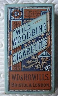 WD and HO Wills Wild Woodbine Cigarette packet