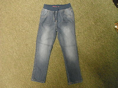 "Nut Meg Slim Leg Jeans Waist 20"" Leg 19"" Faded Dark Blue Boys 5/6 Yrs Jeans"