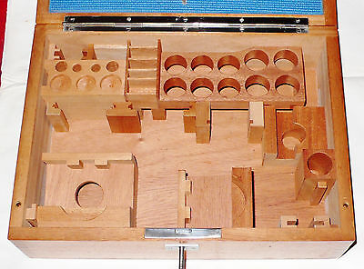Cassetta Accessori LEITZ ORTHOLUX Zubehör Holzkiste Microscope Attachment Box