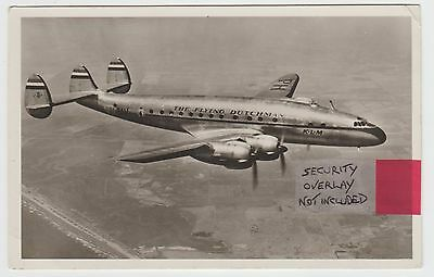 PH-TAV, KLM's First Lockheed Constellation, in 1946 Real Photo PPC, G.Used.
