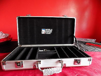 WORLD POKER TOUR  Empty Chip Case.holds 300 chips