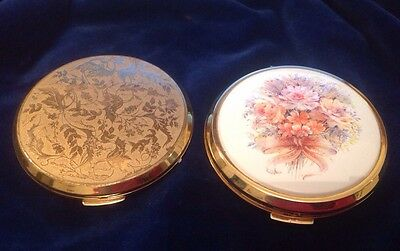 Two Vintage Stratton Compacts As Shown. As Received, Cleaned Superficially Only