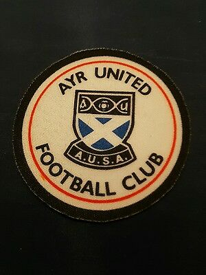 Ayr United FC Sew/Iron On Football Badge/Patch