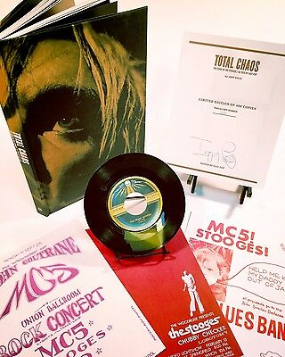 IGGY POP Signed TOTAL CHAOS Limited Edition STOOGES BOOK W/Exclusive 45, Posters