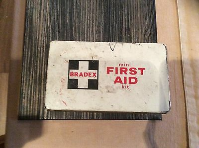 vintage bradex mini first aid kit with original Contents