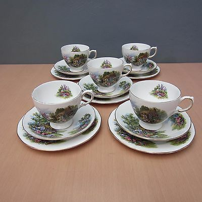 5 Vintage Royal Vale - Cottage Garden - Trios