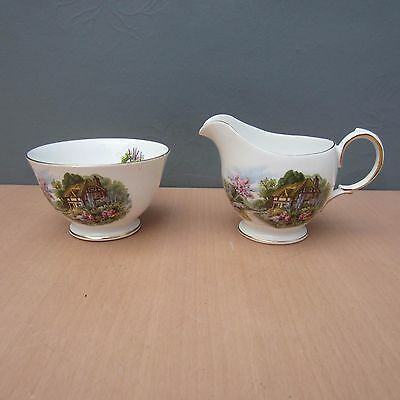 Vintage Royal Vale - Cottage Garden - Milk Jug And Sugar Bowl