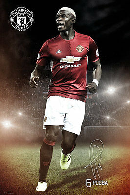 Manchester United FC Poster - Pogba 16/17 - New Man Utd Football poster SP1388