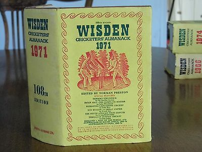 Wisden Cricketers' Almanack 1971 HB & d.jkt. EXCELLENT condition for year