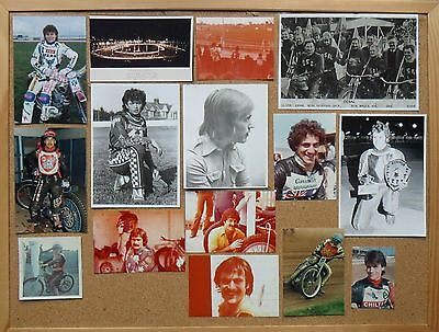 COLLECTION OF 15 SPEEDWAY PHOTOS 1950s to 1990s
