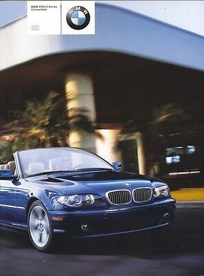 2004 BMW 325Ci 330Ci Convertible Brochure my8134