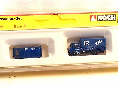 Z-scale Noch 4772 Rental Company Mercedes Truck and VW Vanagon