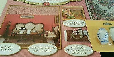 Victorian Dolls' House Collector Number 9 With Collective Jars And Mat