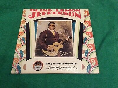 Blind Lemon Jefferson - King Of The Country Blues Yazoo USA Double LP