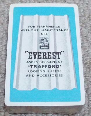 Everest Asbestos Roofing Sheets 1950's Sealed Pack of Advertising Playing Cards