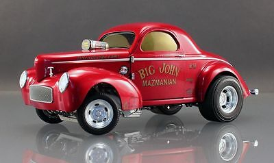 VINTAGE NHRA '33 WILLYs GASSER WILD BILL & CODY 1/64 ADULT