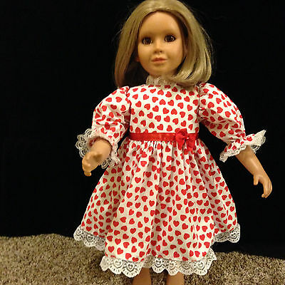"""PRETTY RED  HEART'S  DRESS  made to fit  the 23"""" MY Twinn DOLL (Nice Gift)"""