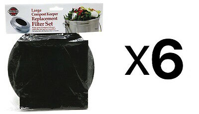 Norpro REPLACEMENT FILTER Standard Compost Pail Charcoal 2 Piece Set (6-Pack)