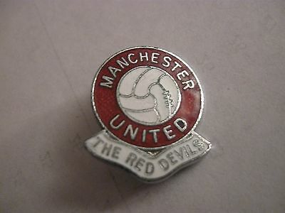 Rare Old Manchester United Football Club (2) Enamel Brooch Pin Badge By Rev Gomm