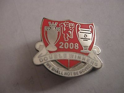 Rare Old 2008 Manchester United Football Club (4) Enamel Brooch Pin Badge
