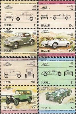 tuvalu 268-275 Couples mint never hinged mnh 1984 Cars