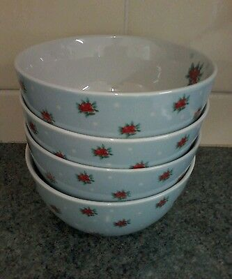 Waterside Vintage Look Shabby Chic Country 5.6Ins Bowls X 4 Perfect