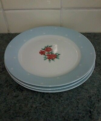 Waterside Vintage Look Shabby Chic Country  7.5Ins Salad Plates X 3 Perfect