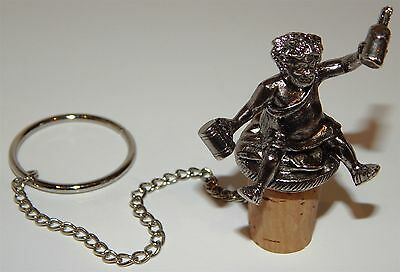 Beautiful Silver Plated Bottle Stopper With Figure Of Bacchus (God Of Wine)