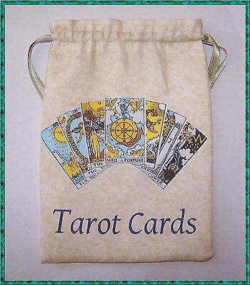 Tarot Card Bag, ideal for most fairy, angel & Wicca tarot cards, Christmas gift