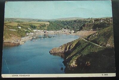 Postcard : Lower Fishguard, Pembrokeshire, Wales : Posted 1967