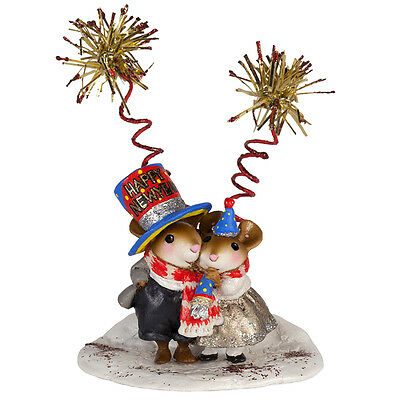 HAPPY NEW YEAR by Wee Forest Folk, WFF# M-456b, New LTD Mouse for Christmas 2016