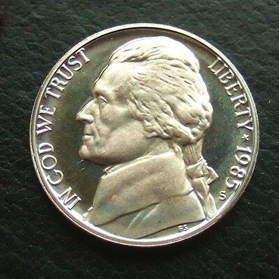 USA 1985-S PROOF JEFFERSON NICKEL : SUPERB MINT STATE COIN ..b10